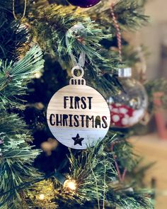 First Christmas bauble – Hannah Joy Designs Christmas Baubles, Christmas Gifts, First Christmas, Joy, Holiday Decor, Pictures, Gift Ideas, Gallery, Design