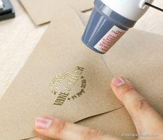Project party studio » DIY · Tu logo de boda dorado en 3 pasos
