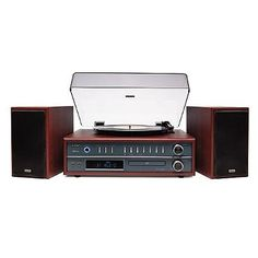 3-in-1 Turntable Stereo System