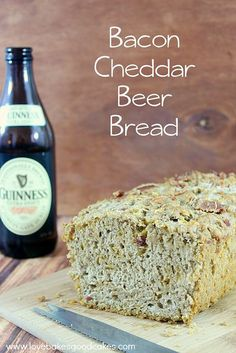 Bacon Cheddar Beer Bread by lovebakesgoodcakes, via Flickr More