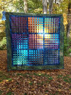Colorful Convergence Modern Quilt by HighLatitudeQuilts on Etsy