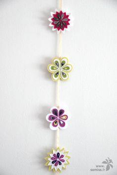Wool's flowers garland