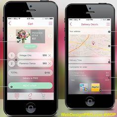 Flower Delivery app. #WebDesignPro #flower #app #mobile #design #beautiful #online #onlineshop #onlineshopping