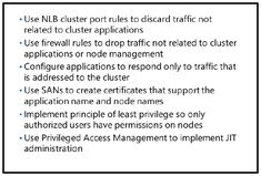 Considerations for securing NLB