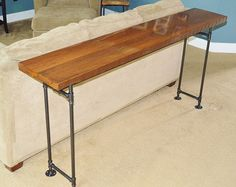 Reclaimed Barn Wood Sofa Table by CaseConcepts2000 on Etsy