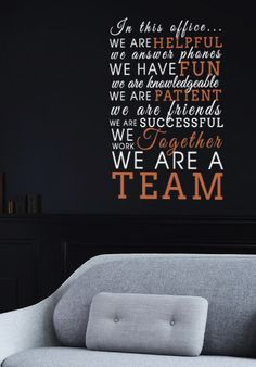 We Are A Team Fancy Wall Decal