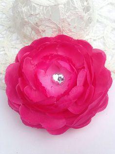 3 hot pink ranunculus flowers rhinestone center 35 silk flower 3 hot pink ranunculus flowers rhinestone center 35 silk flower low international mightylinksfo