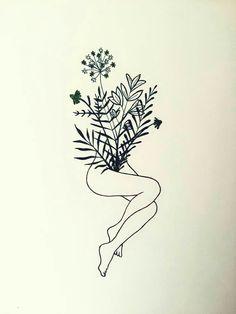 Natural beauty future tattoos, new tattoos, piercing tattoo, skin art, endo Art Sketches, Art Drawings, Minimalist Drawing, Nature Drawing, Nature Sketch, Nature Tattoos, Animal Tattoos, Art Inspo, Illustration Art