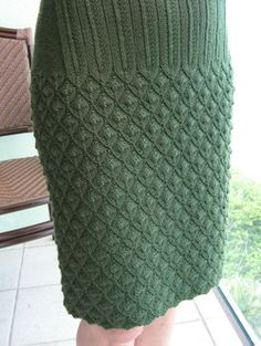 How neat! Would knit this to a midi length though.