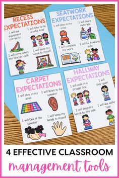 Struggling with classroom management this year? Today, I am sharing 4 classroom management ideas that actually work. These non-verbal cues for the classroom are a great way to help students stay on task and complete their work. Instead of using a clip chart, try one of these behavior management tools instead. These visual cues for behavior help students regulate their behavior on their own. Try one of these behavior management strategies today using picture cards and other classroom visuals.