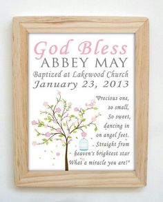 Personalized name or special word with bible verses great idea for christening gift baptism gift baby girl personalized print print name wall art for nursery negle Choice Image