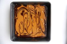 Step-by-step photos for Salted Duce de Leche Brownies!!