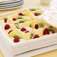 Meringue Box with Amaretto Cream and Fruit - Fruit Dessert Recipes - Good Housekeeping