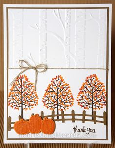 Heart's Delight Cards: The Frost is on the Pumpkins: Totally Trees, Spooky Fun, Thoughtful Banners, Halloween Scenes Edgelits, Woodland TIEF w/ instructions Thanksgiving Cards, Holiday Cards, Christmas Cards, Scrapbooking, Scrapbook Cards, Halloween Cards, Fall Halloween, Making Greeting Cards, Embossed Cards