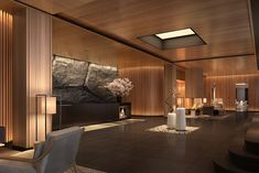 hotel lounge First privately owned condominium hotel in Hokkaido National Park eyes 2018 opening Hotel Lounge, Lobby Lounge, Hotel Spa, Hotel Lobby Design, Lounge Design, Gym Design, Taipei, Interior Architecture, Interior Design