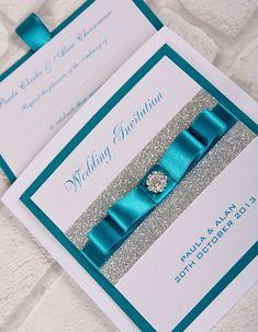 teal wedding invitations - Google Search
