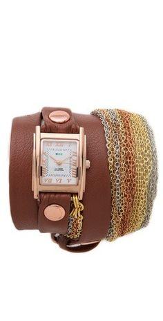 La Mer Collections Rainbow Multi Chain Wrap Watch