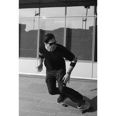 Instagram #skateboarding photo by @iansntsss - @he.ferrari wallriding his long board at @acmilan HQ  #bnw #skate #skateboarding #skatelife #goodvibes #longboard #sk8 #skateeveryday #noaasfalto #henriqueferrariph #black #white #igersitalia #italiait #browsingItaly #whatitalyis #ig_worldpics #igworldclub #ig_italia #milano #casamilan #model #iansantos. Support your local skate shop: SkateboardCity.co