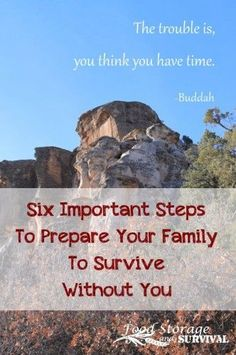 Six Important Steps to Prepare Your Family to Survive Without You