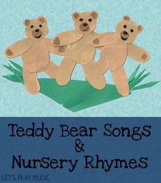 Teddy Bear Songs & Nursery Rhymes with actions & tickles! mommy & me book club...what is a good teddy bear book?? courdoury? Bears Preschool, Nursery Rhymes Preschool, Preschool Music, Teddy Bear Crafts, Teddy Bear Day, Teddy Bears, Infant Activities, Preschool Activities, Letter Activities