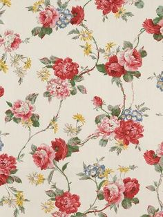 vintage floral, adjust to more coral and grey
