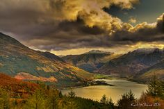 Kintail Sunrise    An early morning view of Morvich from Mam Ratagan, Kintail, by Karl Wiliams