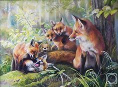 Painting «Not titled Animal Movement, Fox Collection, Spiritual Animal, Animal Crossing Villagers, Fox Illustration, Curious Creatures, Pet Fox, Fox Art, Cartoon Pics
