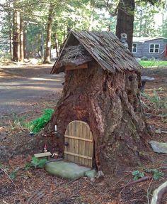 tree stump Fairy Garden House
