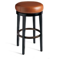 Revolving a full 360-degrees, the Jack Swivel Bar Stool is also a gentleman, and offers you the solidness you'll want with that socializing spin. A sturdy, bronze-finished metal ring footrest adds extra stability. Ready for your home's busy daily life, and any party you throw, this is a very hardworking piece of furniture. We've given it loads of charm, too, like a beautifully finished solid wood frame and comfortable bonded leather seat. Entertaining well should alwa...