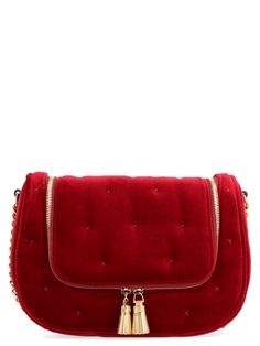 vere Bag From Anya Hindmarch: Polyester Velvet vere Crossbody BagComposition: polyester Anya Hindmarch Fashion, Laos People, Papua New Guinea, Uganda, World Of Fashion, Saddle Bags, Satchel, Burgundy, Velvet