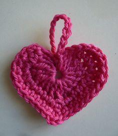 tuto coeur crochet                                                       …