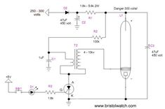Flashtube circuit triggered by a SCR