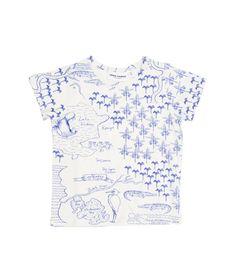 T-Shirt CROCO MAP weiß