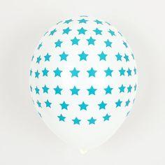 Little Luftballon türkis Sterne bei www.party-princess.de