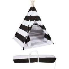 Canvas Teepee With Carry Case, 6', White