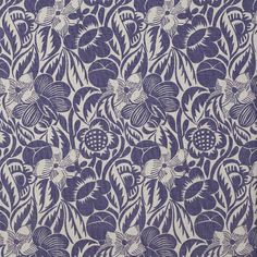 Fleurs Etoilees Indigo | Designer Linen | Christopher Farr at F&P Interiors Raoul Dufy, Kitchen Fabric, Custom Made Furniture, Curtain Fabric, Pattern Names, French Artists, Fabric Samples, Flower Prints, Service Design