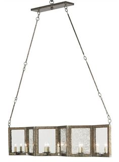 Deansgate Rectangular Chandelier design by Currey & Company