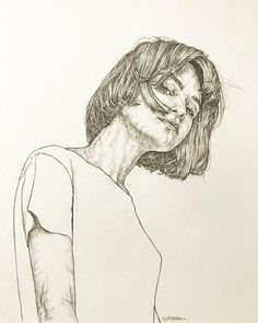 Find images and videos about girl, art and drawing on We Heart It - the app to get lost in what you love. Muse Kunst, Kunst Inspo, Art Inspo, Portrait Sketches, Art Drawings Sketches, Art And Illustration, Figure Drawing, Painting & Drawing, Body Drawing