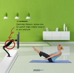 Perfect solution for home yoga!! I would like to buy one! We can get 10% off when buy both one piece yoga mat and desktop mount http://www.zosomart.com/tripods-tv-accessories/tv-mount/72-24-eva-yoga-mat-desktop-mount-for-10-24-monitor-752.html