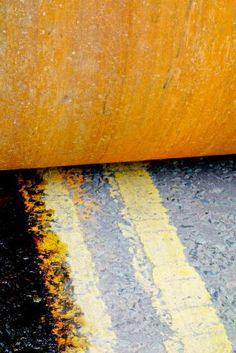 "Saatchi Art Artist Pete Edmunds; Photography, ""HAMM ROLLER ON DOUBLE YELLOW LINES - Limited Edition #1/10 - Mounted Ready To Hang - LARGE"" #art 