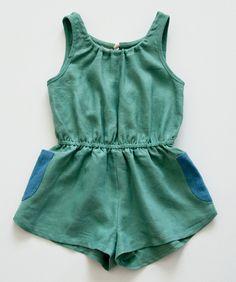 boy+girl Market Romper, Green