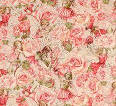 Fat Quarter Rose Sweet Garden Flower Fairy Cotton Fabric Michael Miller DC4220 ... (2016/04/03)