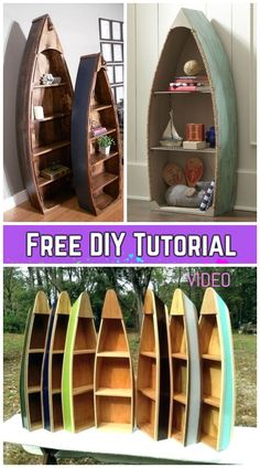 Builds up to 16000 Carpentry Projects - DIY Pallet Wood Boat Bookshelf Tutorial - Video Builds up to 16000 Carpentry Projects - Get A Lifetime Of Project Ideas and Inspiration! Carpentry Projects, Easy Woodworking Projects, Popular Woodworking, Diy Pallet Projects, Woodworking Plans, Woodworking Classes, Woodworking Furniture, Pallet Ideas, Youtube Woodworking