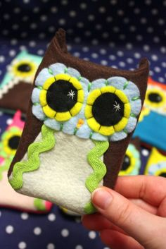 EcoFriendly Felt Owl Phone Sleeve by Needlings on Etsy, $15.00