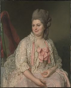 """Madame de Saint-Maurice"", 1776, by Joseph Siffred Duplessis (French, 1725-1802). The picture was exhibited by Duplessis at the Salon of 1777, where it was admired for its truthfulness and the delicate treatment of the draperies. In his copy of the Salon catalogue, Gabriel de Saint-Aubin made a small sketch of the picture which has permitted the identification of the sitter."