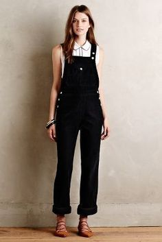 Alexa Chung for AG Bunny Overalls Black 28 #AnthroFave