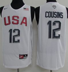 cb155de0d5d5 Nike Team USA  12 DeMarcus Cousins White 2016 Dream Team Stitched NBA Jersey  Usa Dream