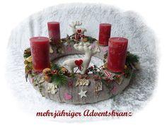 Adventskranz 46cm! aus Floristenhänden mehrjährig von Die Geschenkidee auf DaWanda.com
