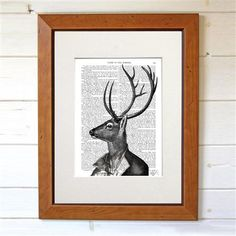 Dotty Dictionary - Deer Portrait 2, Book Print, 20.5x27cm