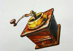 커피 그라인더 기초디자인 개체표현 인천 학익